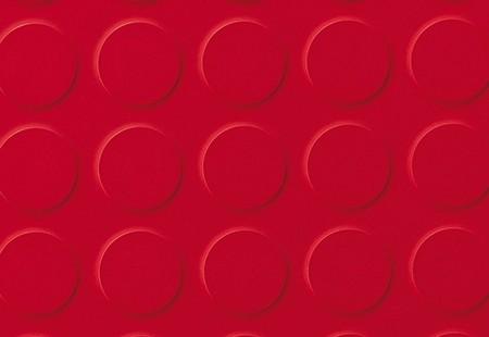 SaarFloor Noppe Stud Tile - Warm Red 12
